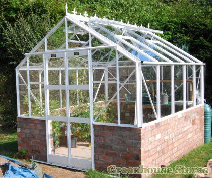 Elite 8x8 Dwarf Wall Greenhouse - Toughened Glazing  http://www.greenhousestores.co.uk/Elite-8x10-Dwarf-Wall-Greenhouse-Toughened-Glazing.htm