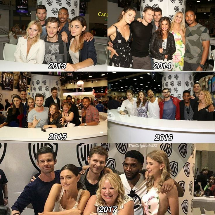 the originals cast at comic con throughout the years! 2017 is their last one sadly. goodbye after 5 seasons.