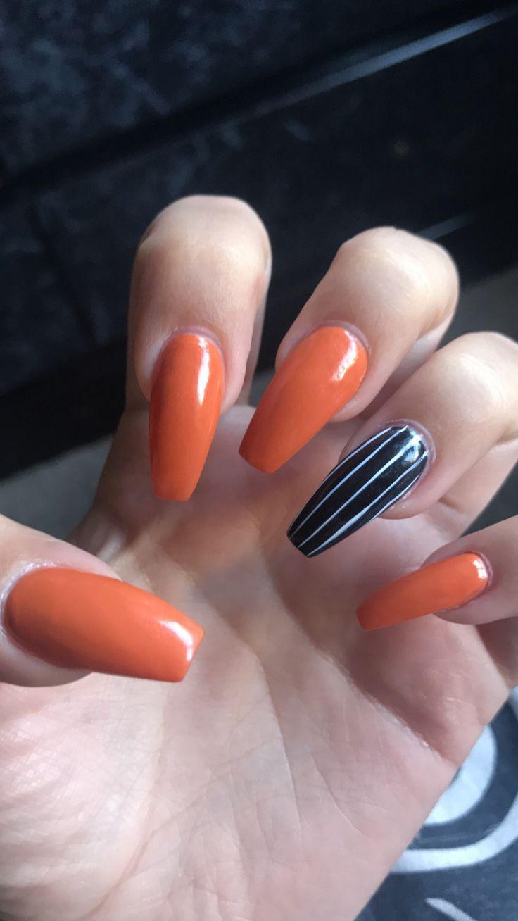 Halloween nails   Fall acrylic nails, Halloween acrylic ...
