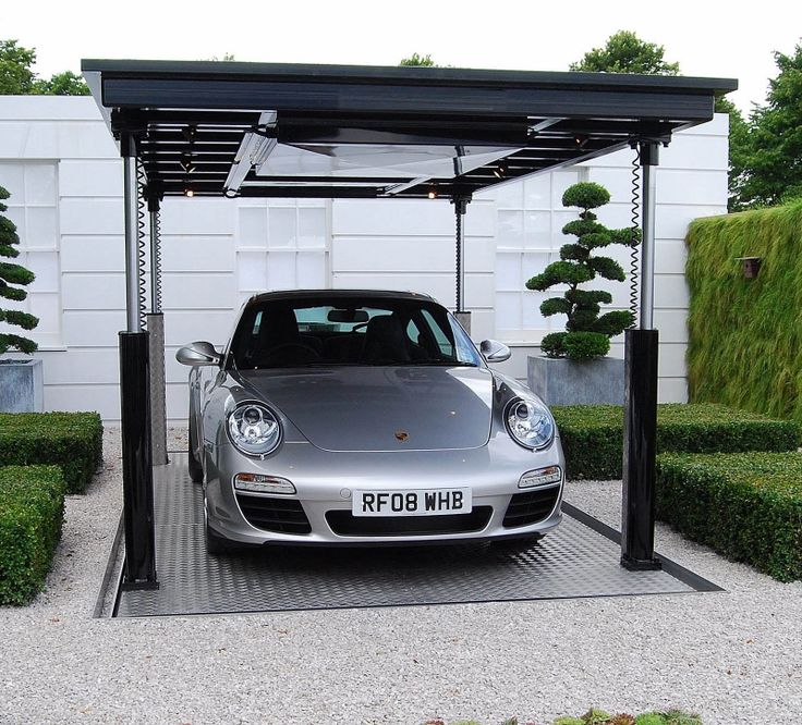 Hidden car park. 15 best images about Modern Home Parking Area Designs on Pinterest