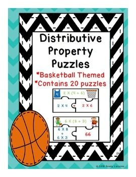 This product, Distributive Property of Multiplication Puzzles, serves as a valuable asset to any 3rd or 4th grade classroom. This is a great resource for review, centers, group work and for interventions. This puzzle set includes 20 basketball themed puzzles and an optional center instruction page.