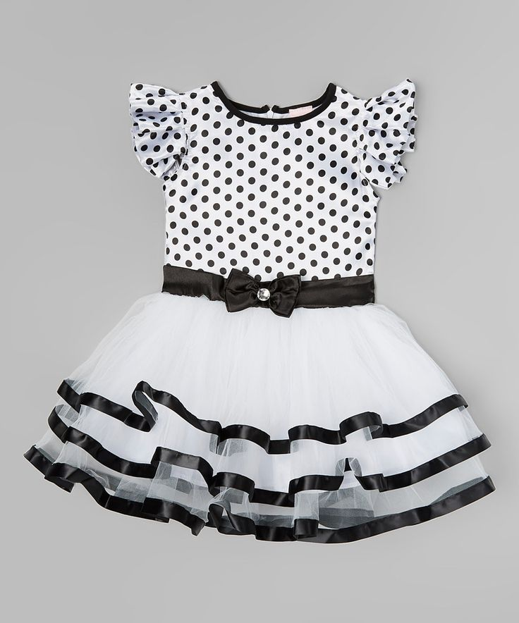 Love this Black & White Polka Dot Ruffle Dress - Toddler & Girls by Wenchoice on #zulily! #zulilyfinds