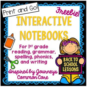 FREE Interactive Notebook inspired by Journeys. It is not necessary to have that reading program to utilize this free resource!