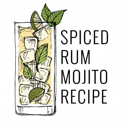 Spiced Rum Mojito Cocktail Recipe