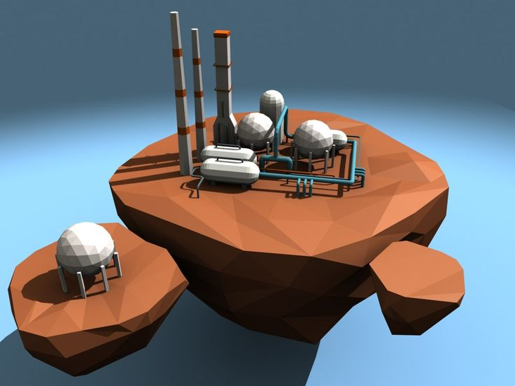 3ds max chemical powerplant asteroid