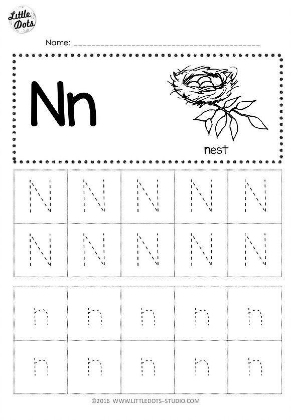 Free Letter N Tracing Worksheets Letter N Worksheet Tracing Worksheets Alphabet Worksheets Preschool Free letter n worksheets for