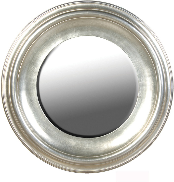 Superb Large Round Silver Mirror Part - 13: Sylvia Silver Large Round Mirror From The French Bedroom Company