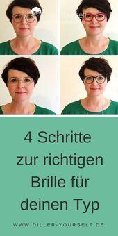 4-Schritte-zur-richtigen-Brille-für-Ihre-Gesichtsform  Die Brille – kein Accessoire hat so viel Einfluss auf dein Aussehen. Wenn die Fassung passt, kann sie deine   natürlichen Vorzüge hervorheben und deine Persönlichkeit unterstreichen.Finde in vier Schritten heraus, welche Brille für die Richtige für dich ist. #Brille #Brillentyp #Stilberatung    This image has get 6 repins.    Author: DillerYourself #4SchrittezurrichtigenBrillefürIhreGesichtsform