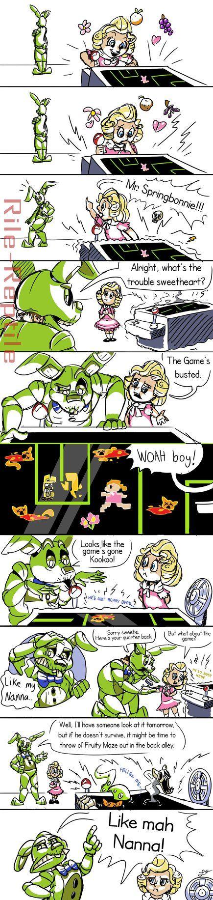 Fnaf 6 mini comic: Fruits on the Fritz by Rile-Reptile.deviantart.com on @DeviantArt