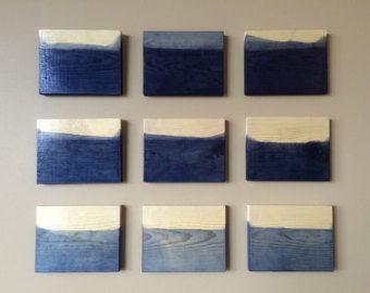 Original Dip Dye, Modern, Holz Skulptur, Holzkunst, Wandkunst, lackiert Holz Wand Skulptur Installation Custom Art