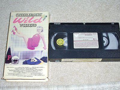 Cheerleader's Wild Weekend VHS Kristine DeBell HOTTTTT,  1985, Vestron Video