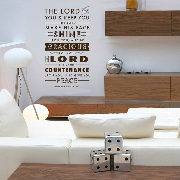 Benediction Verse -Numbers 6:24-26- Quote - Wall Decal Custom Vinyl Art Stickers by danadecals on Etsy https://www.etsy.com/listing/187144167/benediction-verse-numbers-624-26-quote