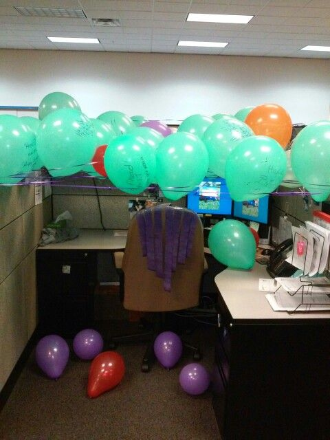 office birthday decorations 25+ unique Cubicle birthday decorations ideas on Pinterest   Office birthday decorations, Office