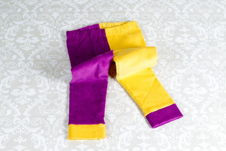 Pantaloni DUO, adică 2 culori de primăvară, mărimi de la 2 ani la 8 ani, fete și băieți.