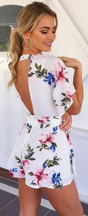 #summer #muraboutique #outfitideas |  Feeling Fresh Floral Playsuit