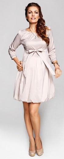 Mirabella beige dress, sukienka ciążowa