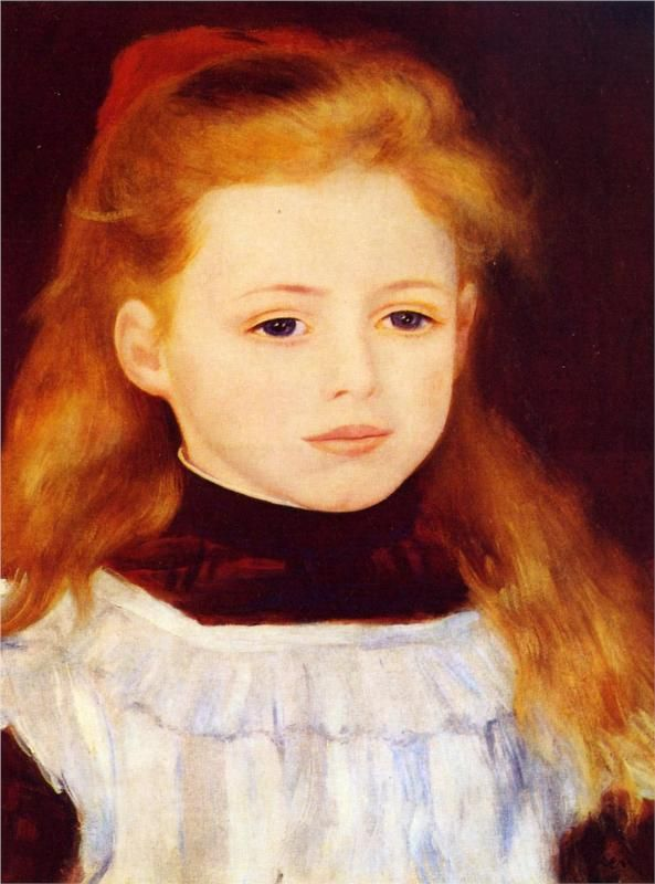 Little Girl in a White Apron (Portrait of Lucie Berard), 1884