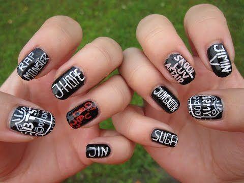 Kpop: BTS/Bangtan boys nail art - YouTube | me | Nails ...