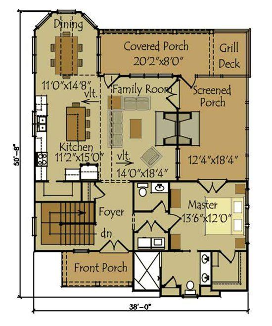 1000 ideas about small cottage house on pinterest small cottage style house plan 2 beds 1 baths 544 sq ft plan