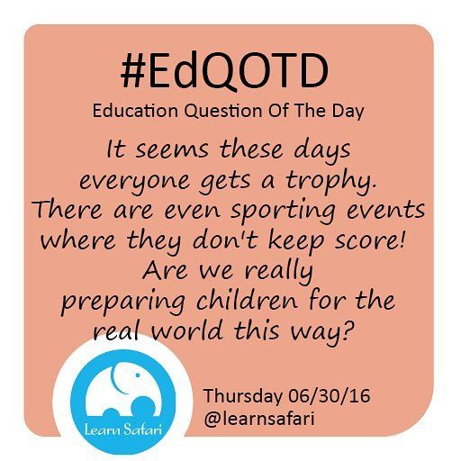 Should everybody be a winner? What happens to hard work to the talented and to the one that needs that little push to shine bright?  #EdQOTD #competition #trophy #winner #hardwork #learnspanish #edtech #smartapp
