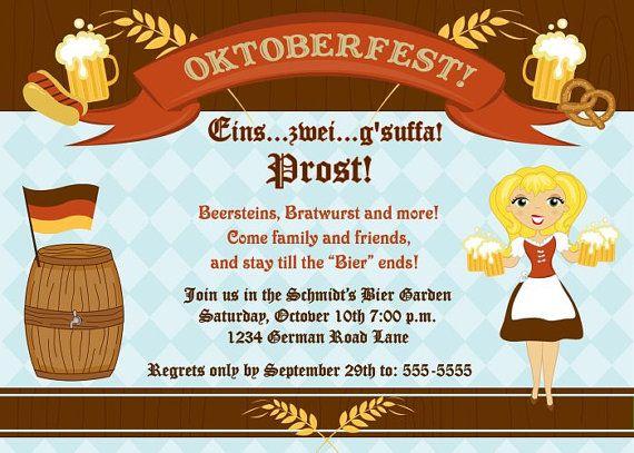 31 best oktoberfest images on pinterest oktoberfest royalty free personalized german oktoberfest invitation by invitestodelight 1000 stopboris Image collections