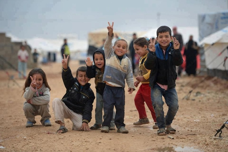 Syrian refugees at alZaatari camp in Jordan