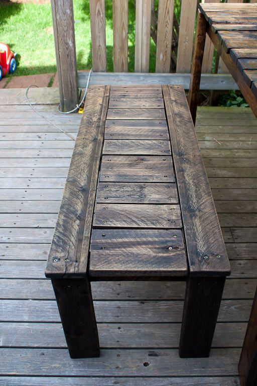 Outdoor Patio Set Made With Recycled Wooden Pallets Pallet Benches, Chairs & Stools Pallet Desks & Tables Pallet For Outdoor Projects