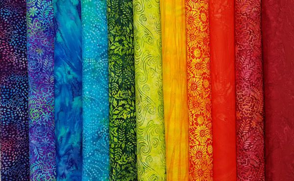 JUST IN: Moda Salsa Batiks. A Bright and Bold rainbow of colour can be found in this latest collection of beautiful batiks from Moda.