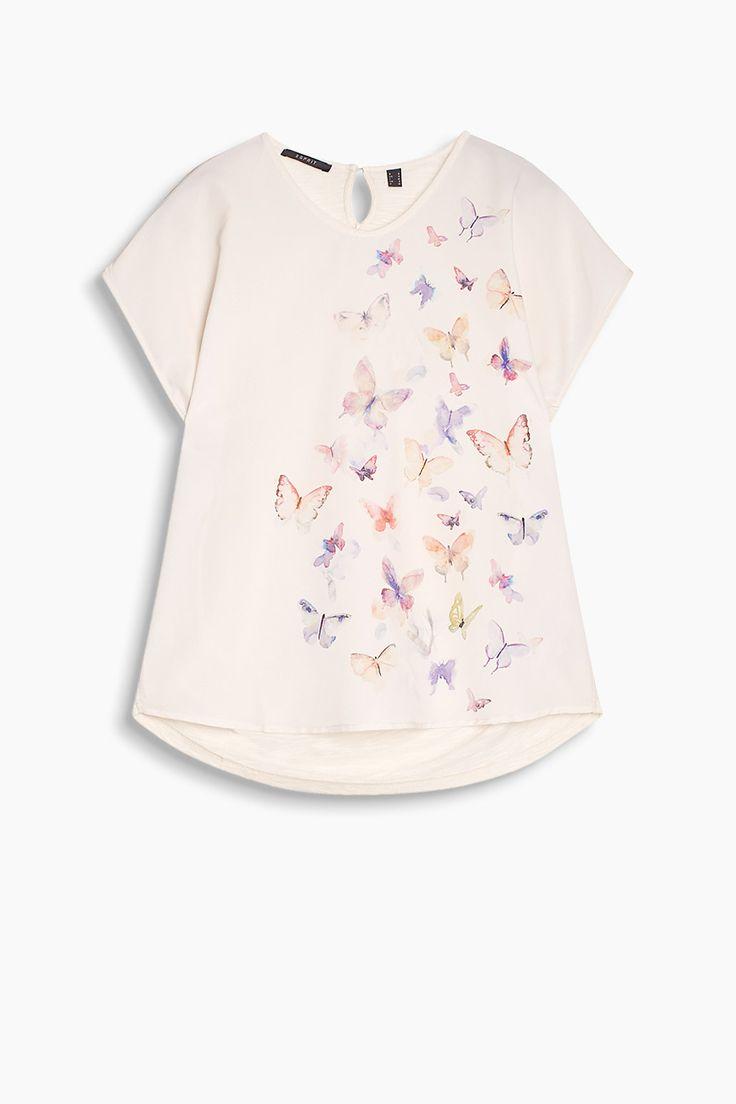 Esprit : Top fluente blusato con stampa di farfalla nel nostro shop on-line