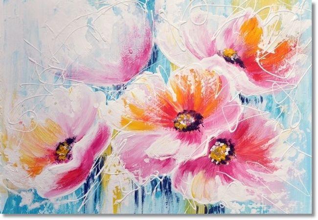 Schilderij Rainbow Flowers - Ibiza Bohemian Stijl - Kunstvoorjou.nl