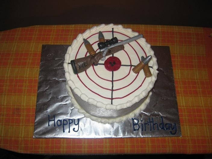 Gun Cake Decorating Ideas : Another great gun birthday cake. Cakes and cake ...