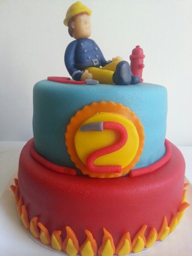 Brandweer man Sam taart