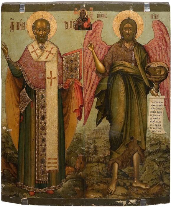 Nikolaos and Prodromos, iconographer : ФИЛАТЬЕВ ТИХОН ИВАНОВ (уп. 1675–1731) -
