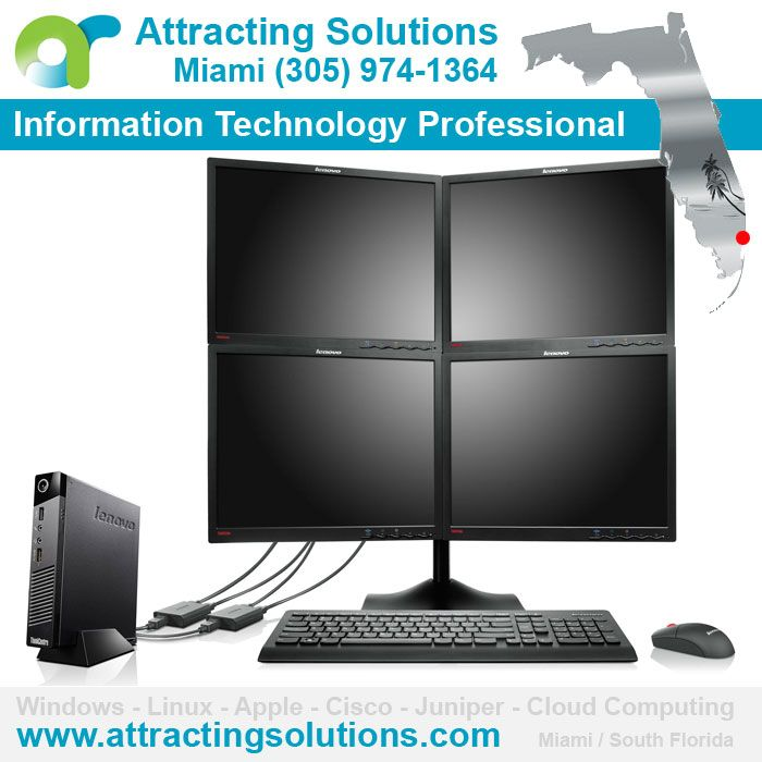 Miami Virtual Private Network VPN /// Attracting Solutions Miami (305) 974-1364 - www.attractingsolutions.com - Certified IT Solutions Providers - Windows Server Support - Linux Server Support - Apple Server Support - Cisco Systems Support - Short & Long Range WiFi - Juniper Security Specialists - Desktop Virtualization - Managed IT Security - Endpoint Protection - Legal Software - HIPAA Compliance & EHR - Software Development /// www.attractingsolutions.com