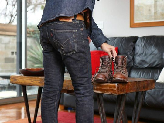 No qualms rocking any time. Denim Field Shirt Moleskin Shirt (hiding) The  Strike Gold 5209 brown weft Iron Ranger 8111