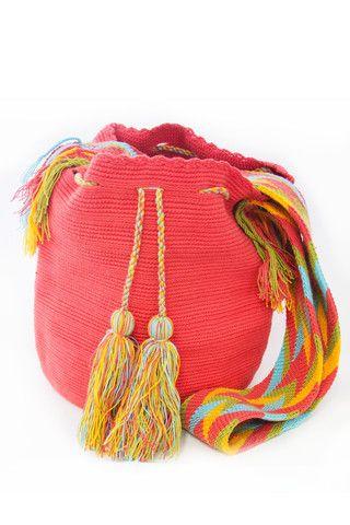 Wayuu Solid Mochila Bags