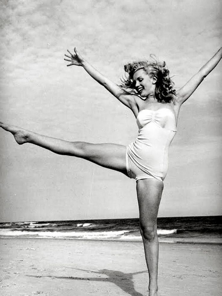 Monroe on the beach