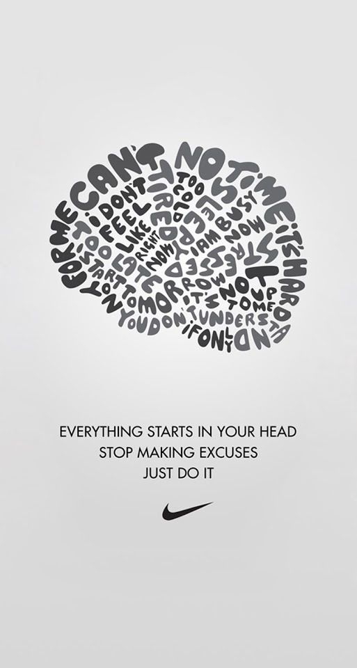 It starts in your head.... Growth mindset!