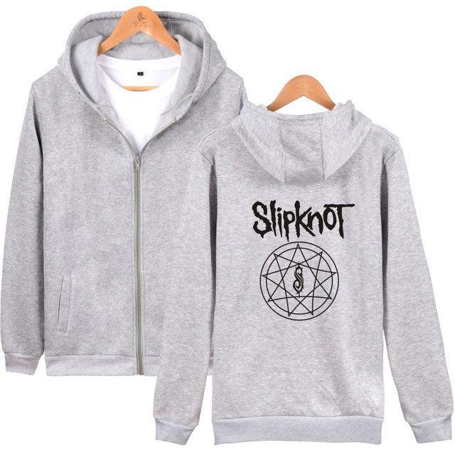 MULYEN Slipknot Zip-up Hoodies Men Women Heavy Metal Hard Rock Music Punk Tour Concert Fleece Streetwear Hip Hop Tracksuit Men
