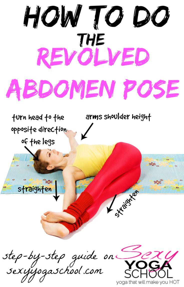 Revolved abdomen pose guide ❤ www.SexyYogaSchool.com ❤ #yogi #yoga #sexyyoga #yogapose