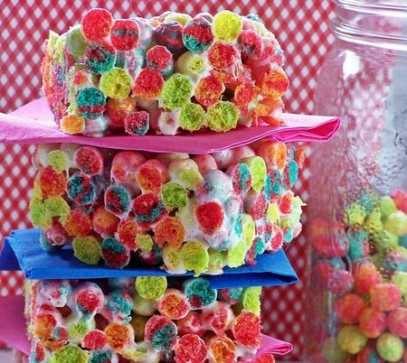 Polka Dot party ideas with Trix krispies, fun!