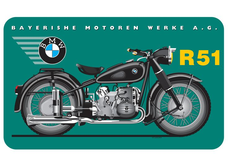 My old BMW motorcycle as a retro advertisement (Designed by George D. Matthiopoulow in Illustrator)