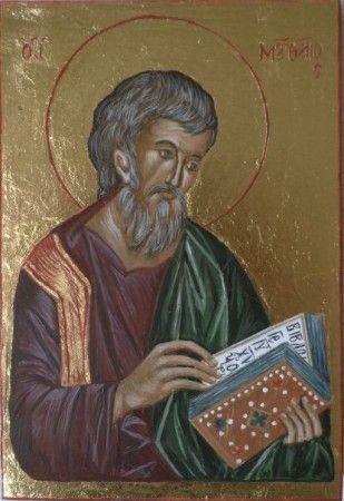 Św.Mateusz Ewangelista,według XIV-wiecznej ikony z klasztoru Chilandar na Górze Athos: Galeria Wiera