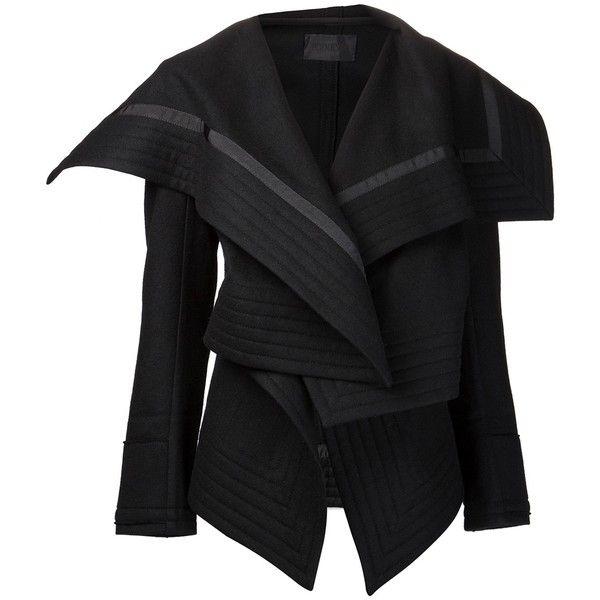 PODOLYAN draped collar jacket ($650) found on Polyvore