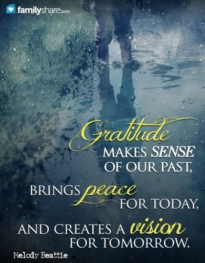 """""""Gratitude unlocks the fullness of life"""" and is truly """"the fairest blossom which springs from the soul."""" Indeed, """"all that we behold is full of blessings."""" How has thankfulness helped enrich your life?"""