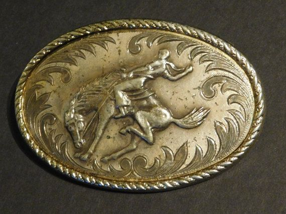 Check out this item in my Etsy shop https://www.etsy.com/listing/274396076/mens-bucking-bronco-rodeo-belt-buckle