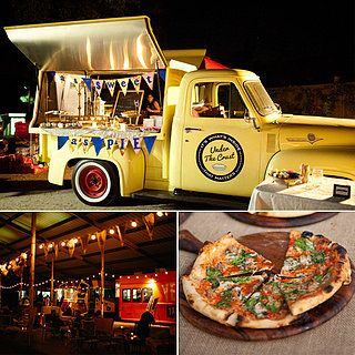 Food Trucks at Weddings...an old fashioned looking food truck or VW van catering truck would be perfect to go with our theme.