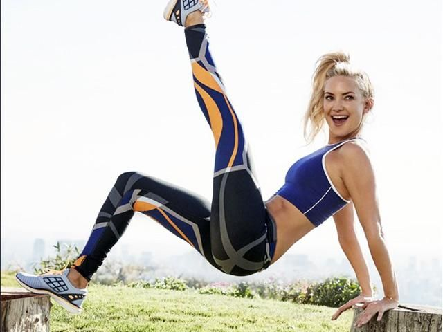 Kate Hudson working out on Instagram wearing Fabletics