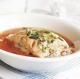 POACHED HALIBUT IN HOT AND SOUR BROTH   http://www.finecooking.com/recipes/poached-halibut-hot-sour-broth.aspx