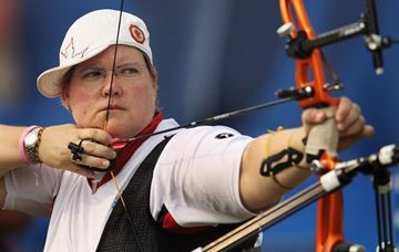 July 14 - Archery - Women - Individual - Qualification.   Canada's Kateri Vraaking competed in Tuesday's Pan Am archery ranking round at Varsity Stadium Tuesday. Dateri is a grade seven teacher at St. Matthew Catholic school in York region.  Vraaking finished 14th.